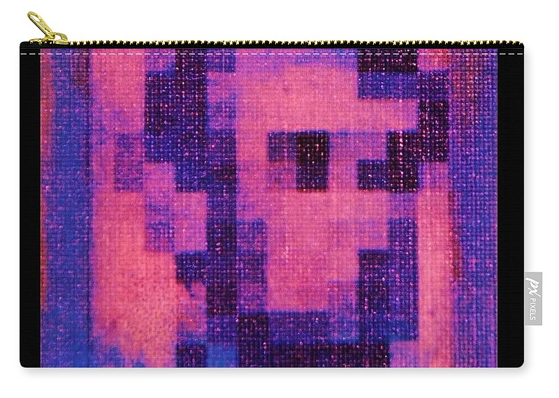 Pink Carry-all Pouch featuring the photograph Abe In Hot Pink by Rob Hans