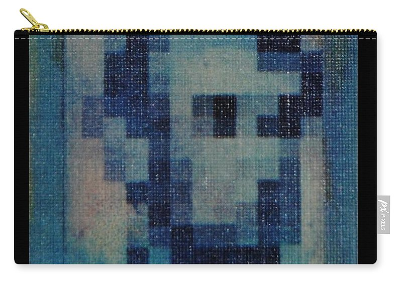 Blue Carry-all Pouch featuring the photograph Abe In Light Blue by Rob Hans