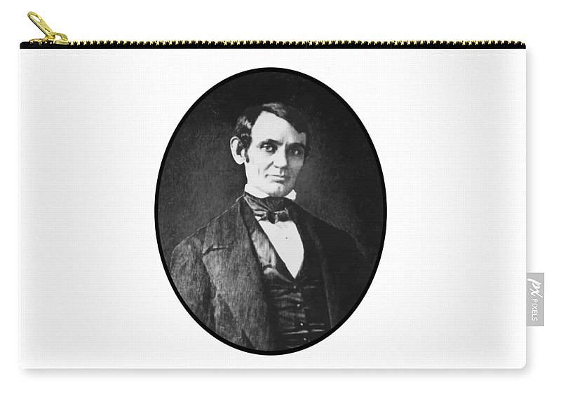 President Lincoln Carry-all Pouch featuring the painting Abe Lincoln As A Young Man by War Is Hell Store
