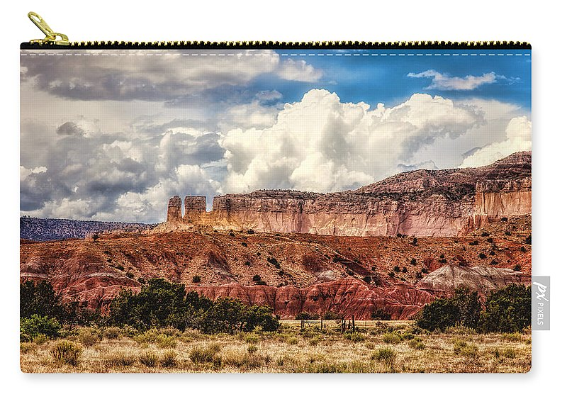 Abiquiu Carry-all Pouch featuring the photograph Abiquiu Landscape by Diana Powell
