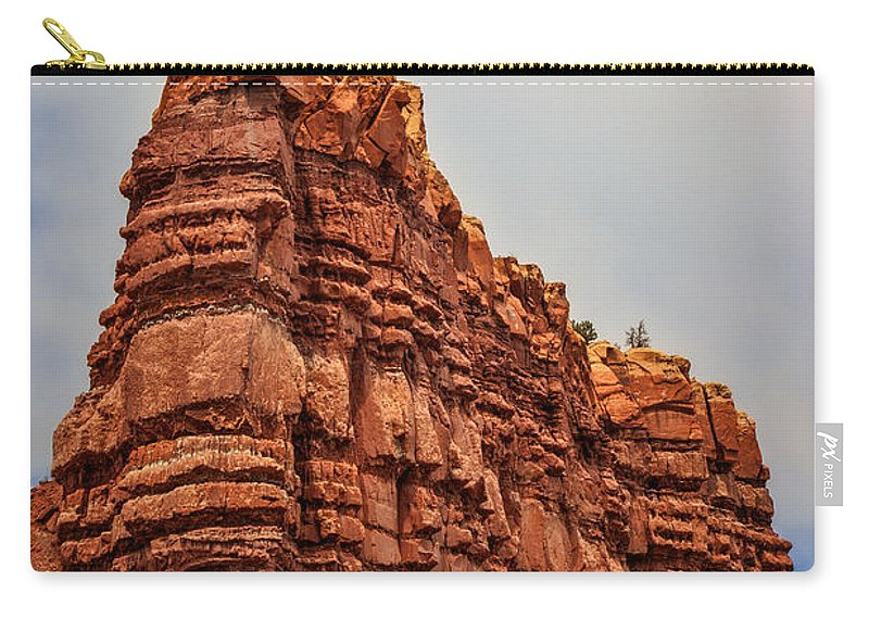 Abiquiu Carry-all Pouch featuring the photograph Abiquiu Spires by Diana Powell