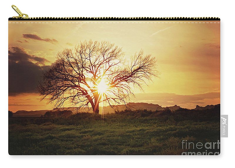 Tree Carry-all Pouch featuring the photograph Ablaze by Ashley Haack