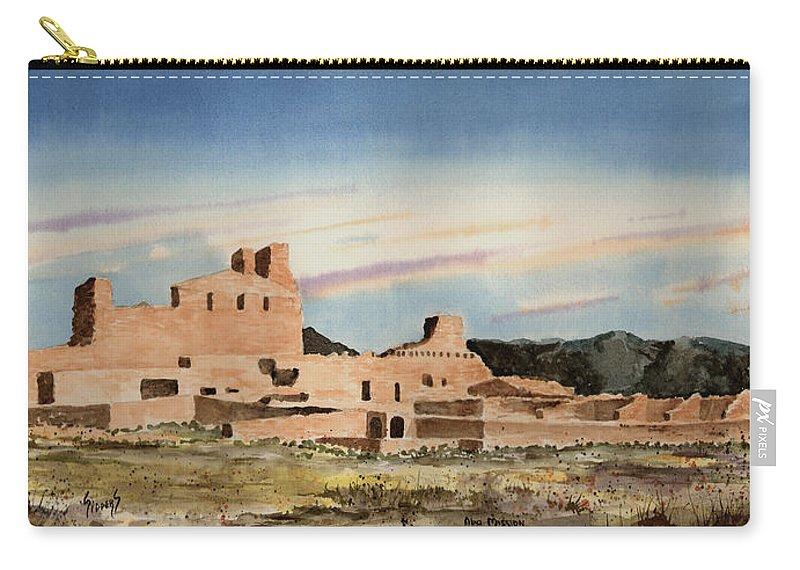 Mission Carry-all Pouch featuring the painting Abo Mission by Sam Sidders