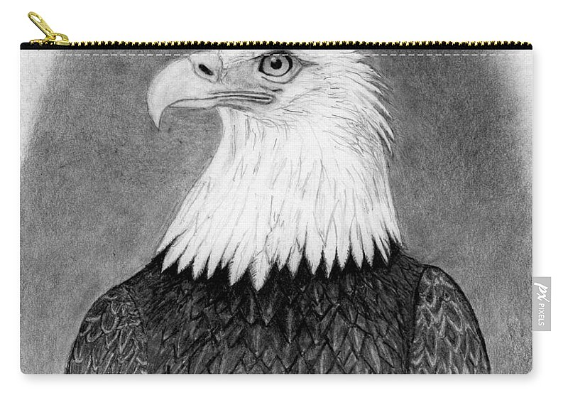 Eagle Carry-all Pouch featuring the drawing Above All by George Sonner