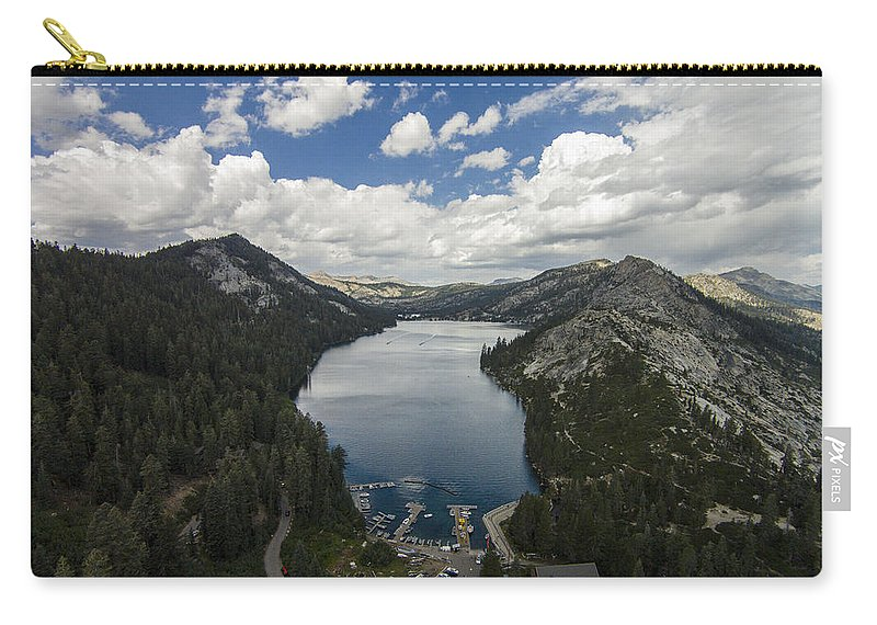 Above Carry-all Pouch featuring the photograph Above Echo Lake by David Levy