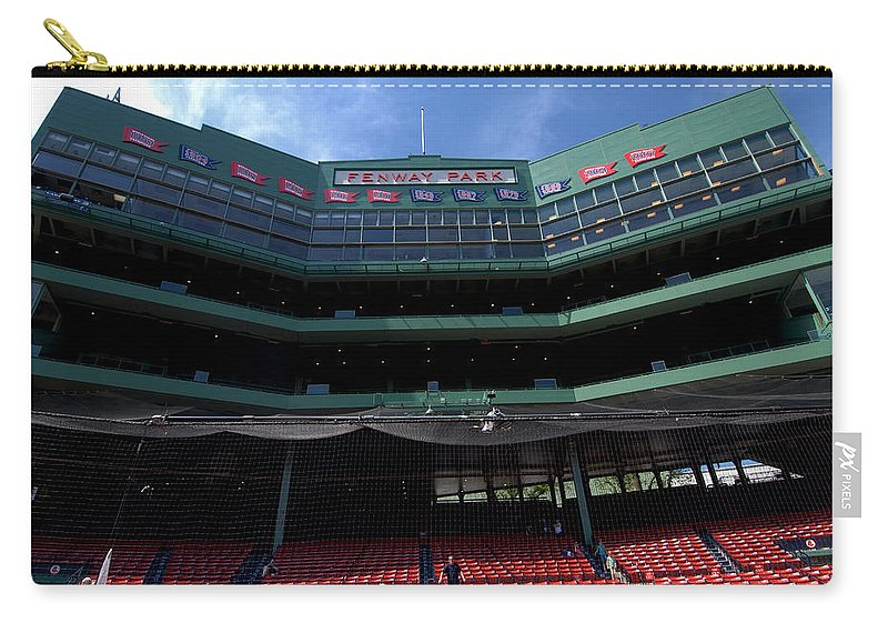 boston Red Sox Carry-all Pouch featuring the Above It All by Paul Mangold
