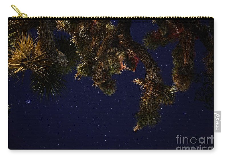 Night Stars Carry-all Pouch featuring the photograph Above Me by Angela J Wright