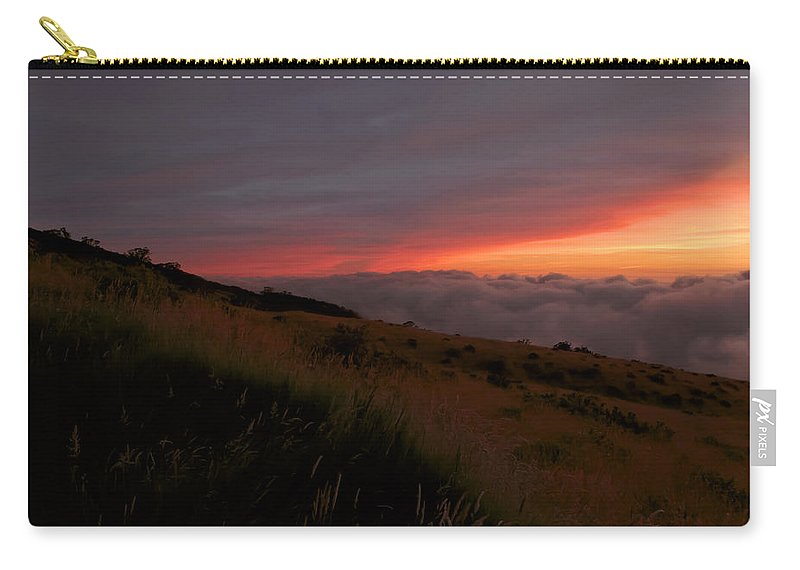 Sunset Carry-all Pouch featuring the photograph Above The Clouds by Susan Rissi Tregoning