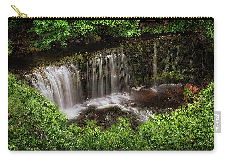 Sgwd Isaf Clun-gwyn Carry-all Pouch featuring the photograph Above The Sgwd Isaf Clun-gwyn Waterfall by Leighton Collins