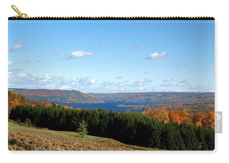 Keuka Lake Carry-all Pouch featuring the photograph Above The Vines by Joshua House