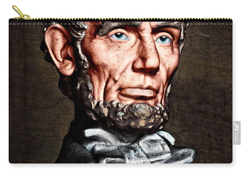 Abraham Lincoln Carry-all Pouch featuring the photograph Abraham Lincoln by Christopher Holmes