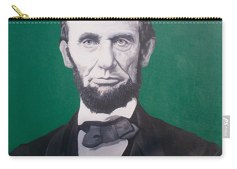 Abraham Lincoln Carry-all Pouch featuring the painting Abraham Lincoln by Gary Hogben