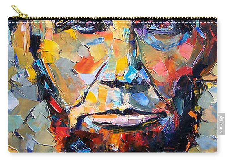 President Carry-all Pouch featuring the painting Abraham Lincoln Portrait by Debra Hurd