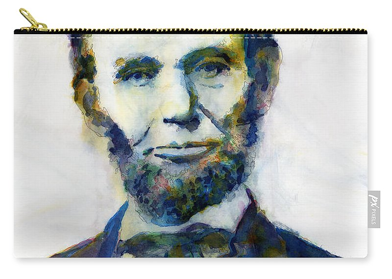 Abraham Carry-all Pouch featuring the painting Abraham Lincoln Portrait Study 2 by Hailey E Herrera