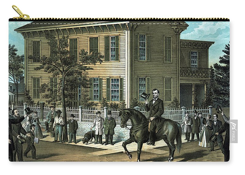 Abraham Lincoln Carry-all Pouch featuring the painting Abraham Lincoln's Return Home by War Is Hell Store