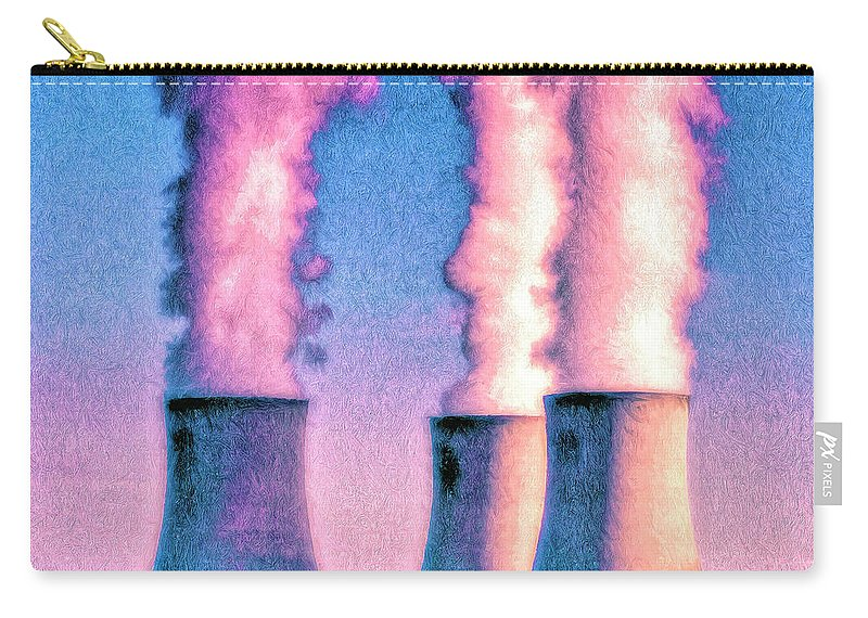 Nuclear Plant Carry-all Pouch featuring the painting Abraxas 1 by Dominic Piperata