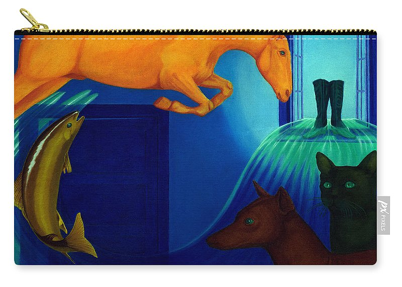 Surreal Carry-all Pouch featuring the painting Absence. by Andrzej Pietal
