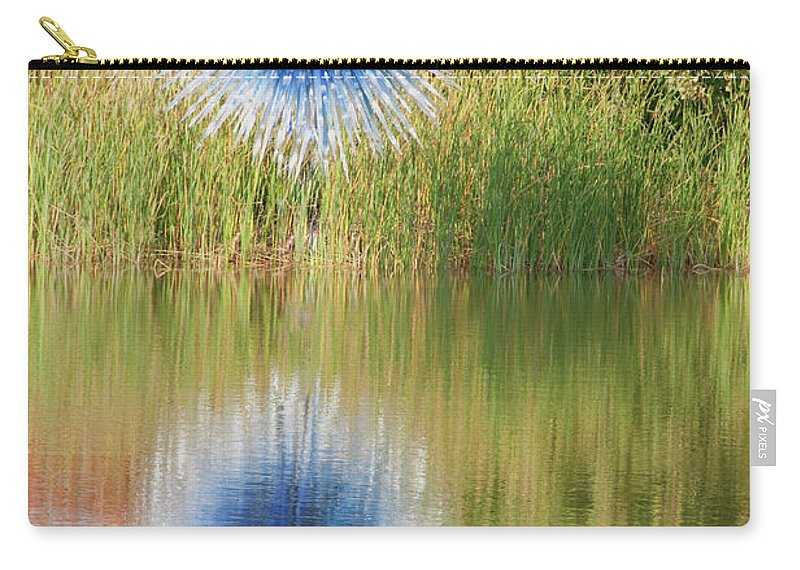 Abstact Carry-all Pouch featuring the photograph Abstact Sphere Over Water by David Arment