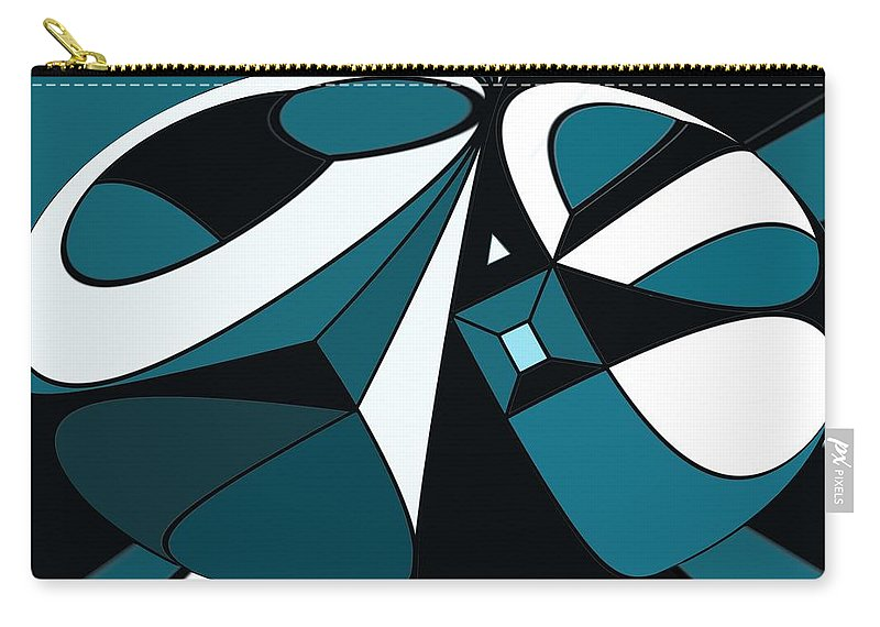 Abstract Carry-all Pouch featuring the digital art Abstrac7-30-09-a by David Lane