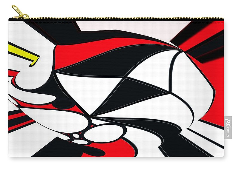 Abstract Carry-all Pouch featuring the digital art Abstrac7-30-09-b by David Lane