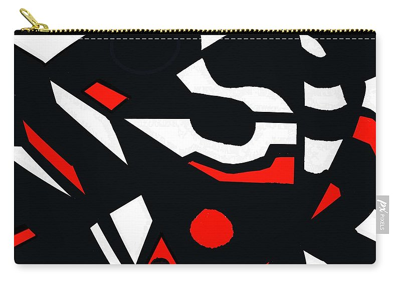 Abstract Carry-all Pouch featuring the digital art Abstrac7-30-09 by David Lane