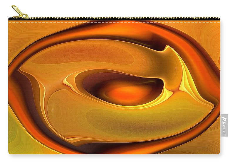 Abstract Carry-all Pouch featuring the digital art Abstrac8-15-09 by David Lane