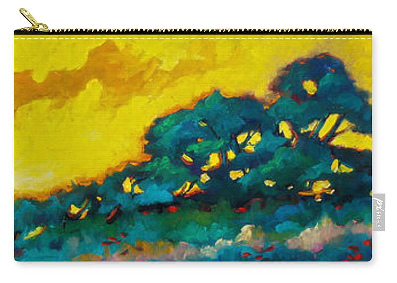 Abstract Carry-all Pouch featuring the painting Abstract 01 by Richard T Pranke