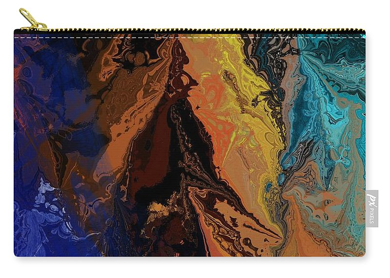 Fine Art Carry-all Pouch featuring the digital art Abstract 010811 by David Lane