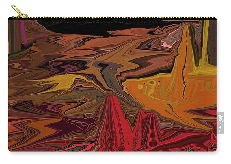 Fine Art Carry-all Pouch featuring the digital art Abstract 011311 by David Lane