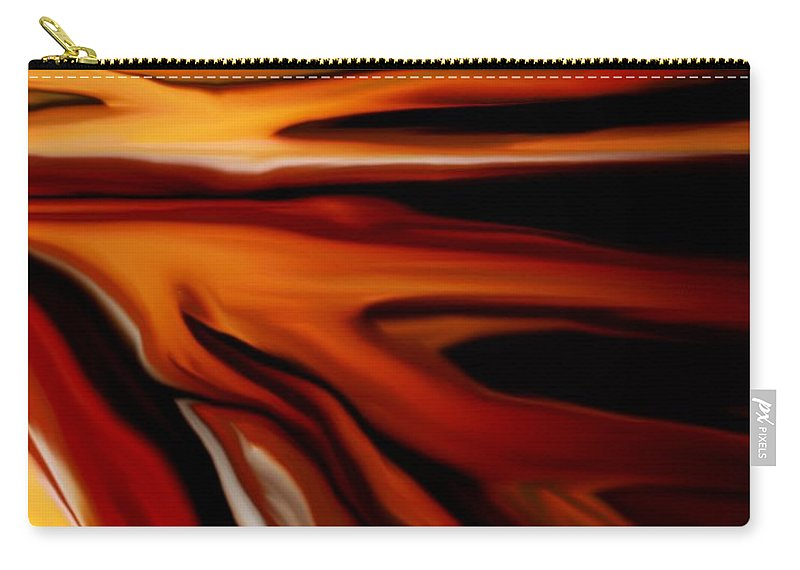 Digital Painting Carry-all Pouch featuring the digital art Abstract 02-12-10 by David Lane