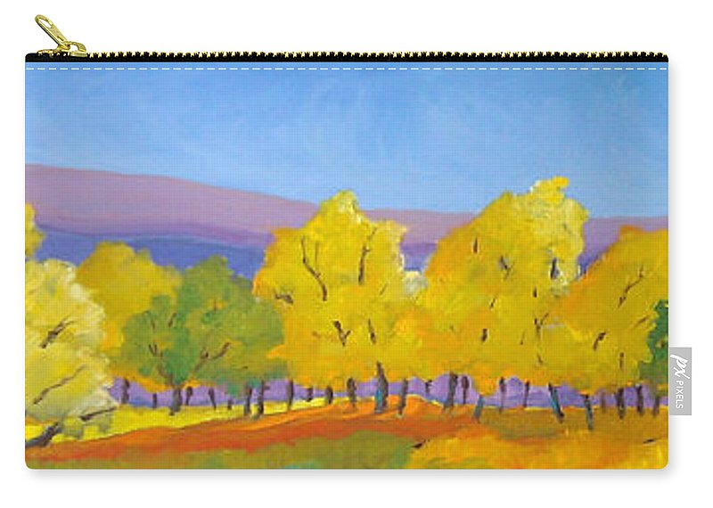 Abstract Carry-all Pouch featuring the painting Abstract 02 by Richard T Pranke