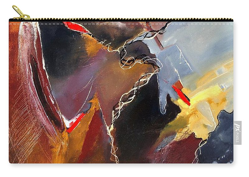 Abstract Carry-all Pouch featuring the painting Abstract 020606 by Pol Ledent