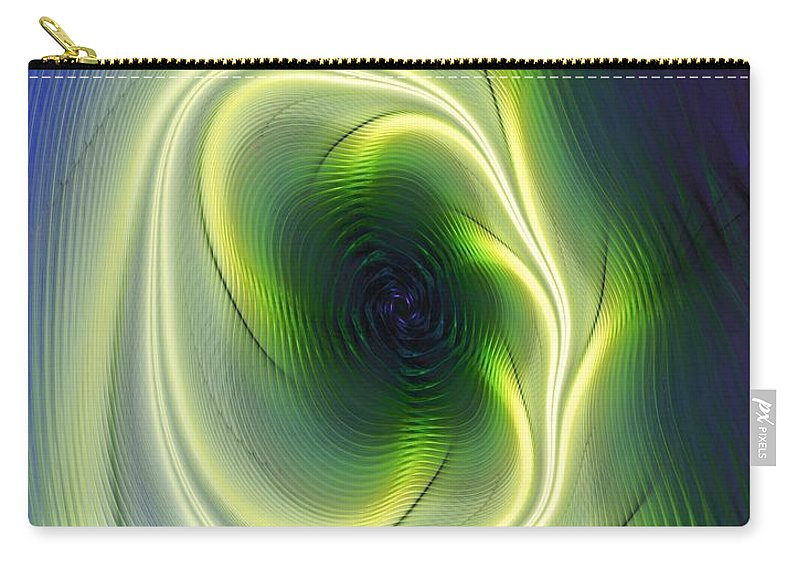 Fine Art Carry-all Pouch featuring the digital art Abstract 021311 by David Lane