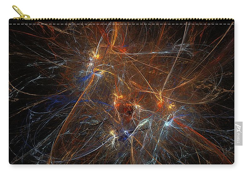 Pollock Carry-all Pouch featuring the digital art Abstract 022311 by David Lane