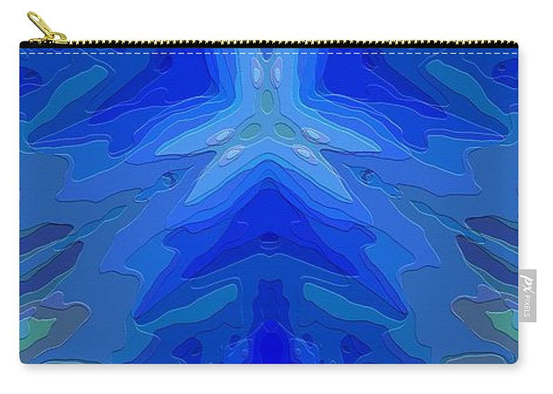 Abstract Carry-all Pouch featuring the digital art Abstract 032811-2 by David Lane