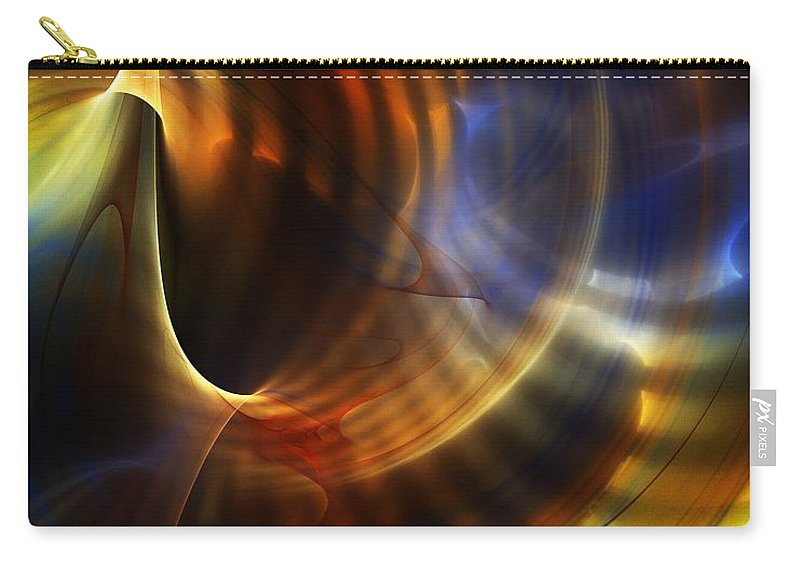 Fine Art Carry-all Pouch featuring the digital art Abstract 040511 by David Lane