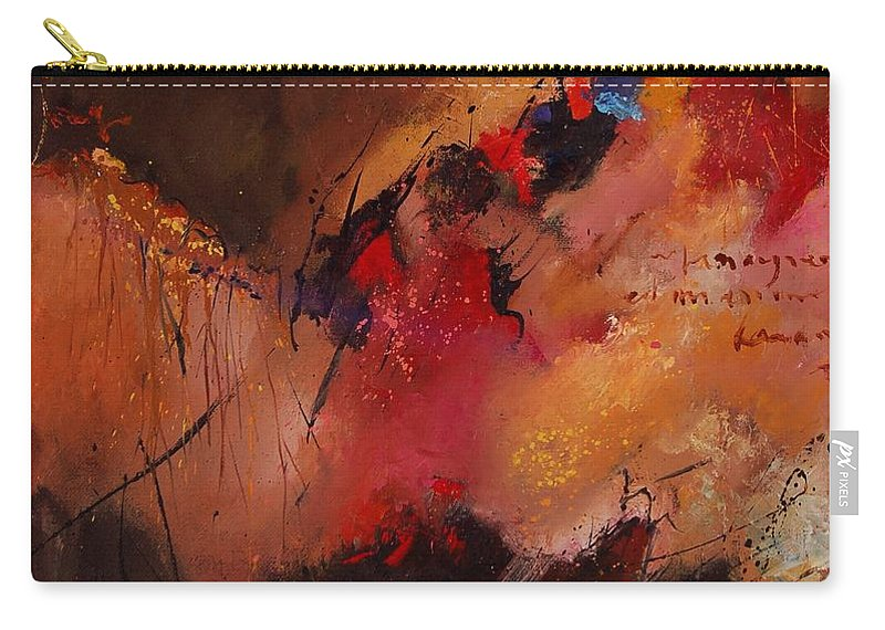 Abstract Carry-all Pouch featuring the painting Abstract 0408 by Pol Ledent
