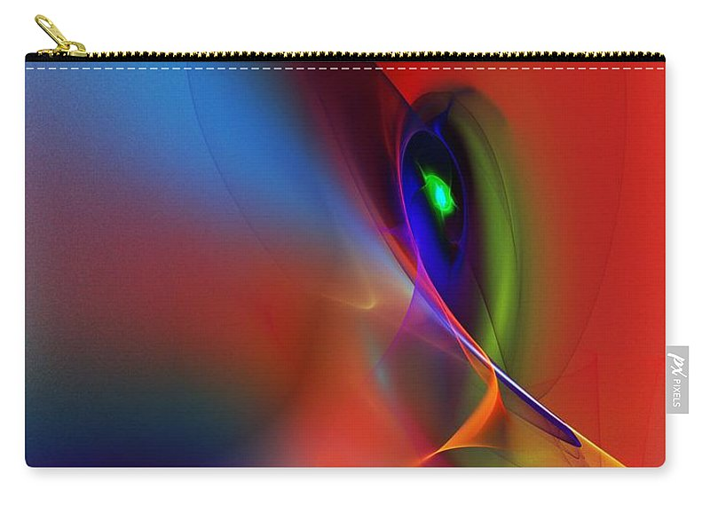 Fine Art Carry-all Pouch featuring the digital art Abstract 042612a by David Lane