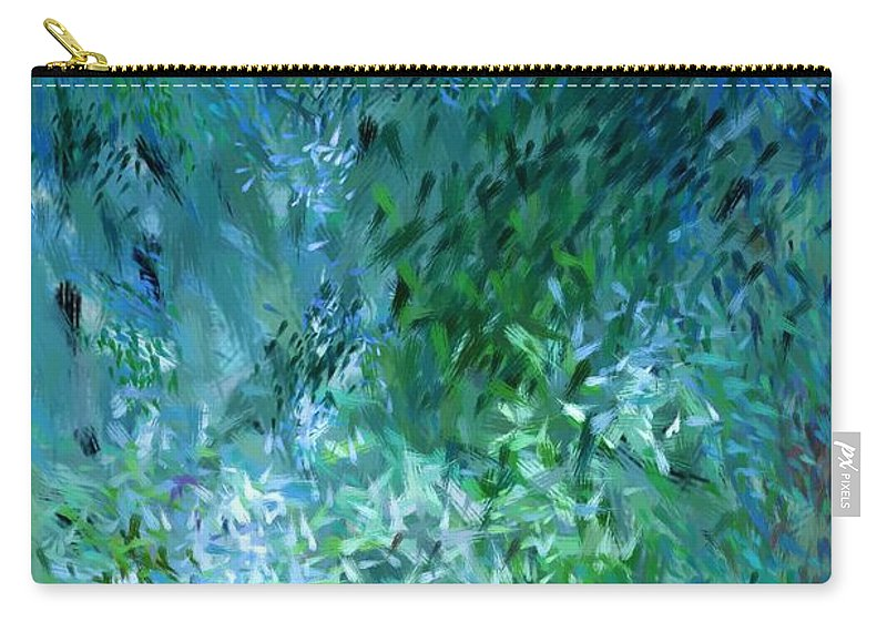 Abstract Carry-all Pouch featuring the digital art Abstract 05-25-09 by David Lane
