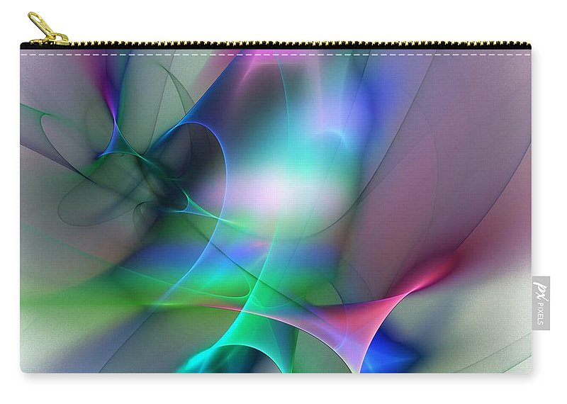Digital Painting Carry-all Pouch featuring the digital art Abstract 053010 by David Lane