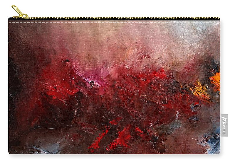 Abstract Carry-all Pouch featuring the painting Abstract 056 by Pol Ledent