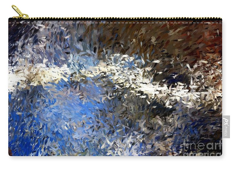 Abstract Carry-all Pouch featuring the digital art Abstract 06-03-09b by David Lane