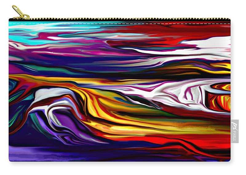 Abstract Carry-all Pouch featuring the digital art Abstract 06-12-09 by David Lane