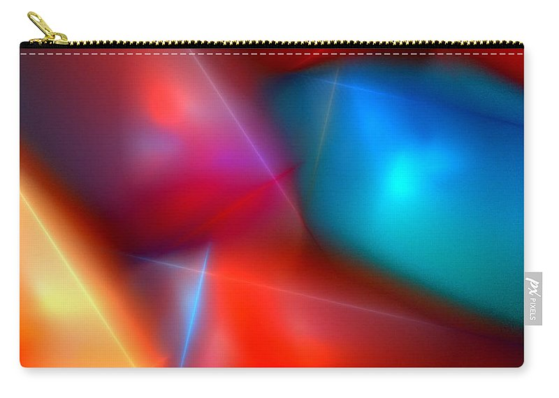 Digital Painting Carry-all Pouch featuring the digital art Abstract 060110 by David Lane