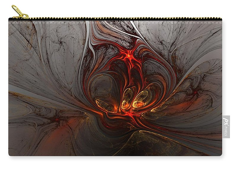 Digital Painting Carry-all Pouch featuring the digital art Abstract 060310 by David Lane