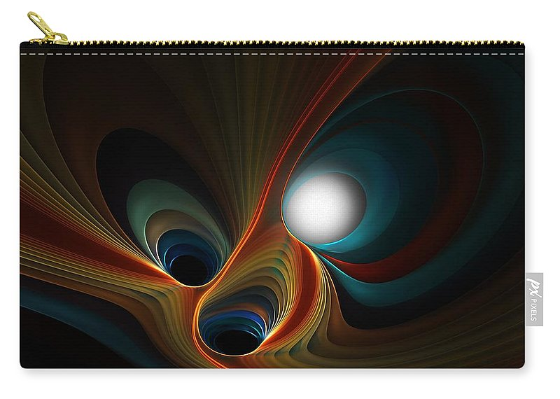 Digital Painting Carry-all Pouch featuring the digital art Abstract 060310c by David Lane