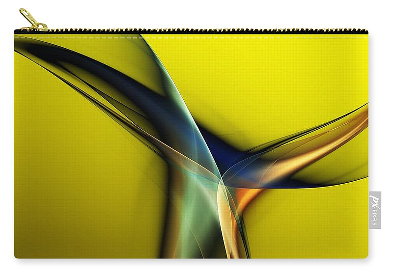 Fine Art Carry-all Pouch featuring the digital art Abstract 060311 by David Lane