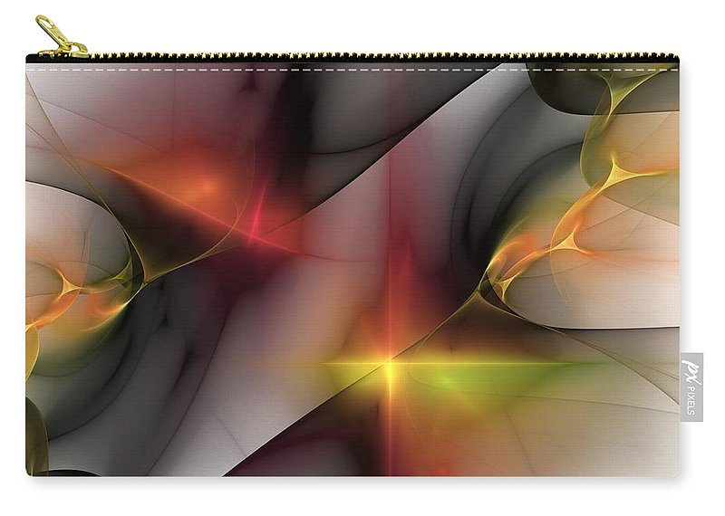 Fine Art Carry-all Pouch featuring the digital art Abstract 060810 by David Lane