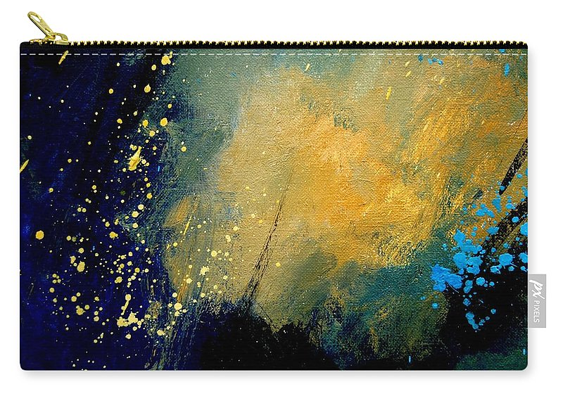 Abstract Carry-all Pouch featuring the painting Abstract 061 by Pol Ledent
