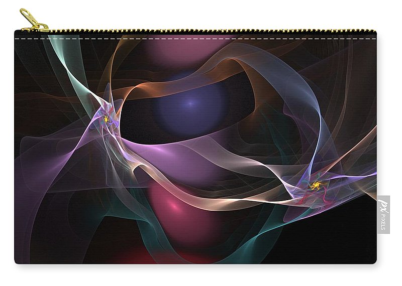 Fine Art Carry-all Pouch featuring the digital art Abstract 062310 by David Lane